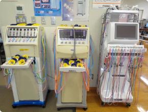 ホットパックや低周波治療器、渦流浴装置